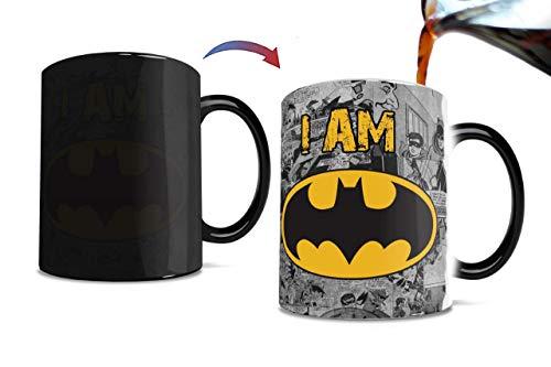 Morphing Mugs DC Comics I AM Batman Heat Reveal Ceramic Coffee Mug - 11 Ounces