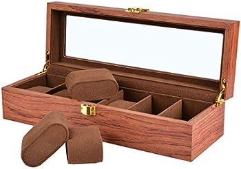 Willow 6 Slot Wooden Watch / Jewelry Storage Box