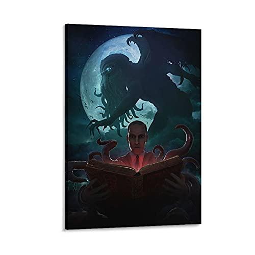 heitao Lovecraft Cthulhu Lovecraft Cthulhu - Póster de lienzo y pared con impresión moderna para dormitorio familiar (50 x 75 cm)