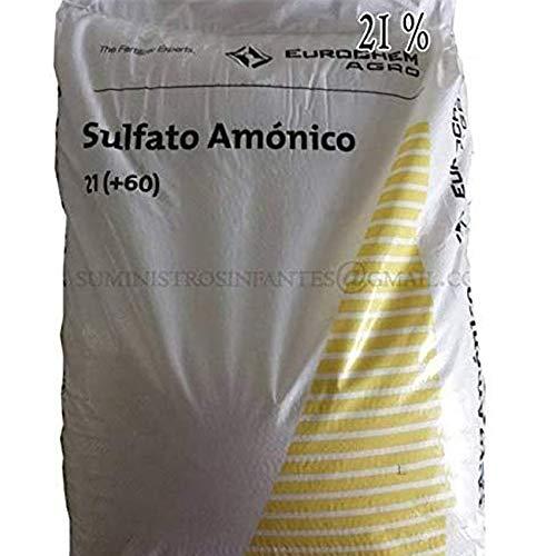 Suinga Sulfato AMONICO 21%, Saco de 25 Kg de abono. El azufre es un nutriente indispensable en Todos los Cultivos. Maxima Calidad