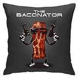 WH-CLA Throw Pillow Covers The Baconator Bacon Terminator Sofá Funda De Cojín Sofá Anime Oficina Acogedora Funda De Almohada Fundas De Almohada con Cremallera Sofá Dormitorio Coloridos Co