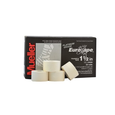 Mueller Platinum Grade Eurotape | Sporttape Weiß | 4 Rollen á 3,81 cm x 11,43 m | Tape