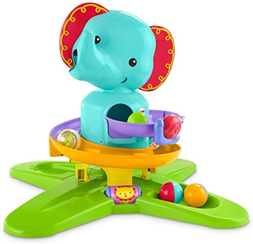 Mattel Fisher-Price-Elefantito rampas Divertidas, Juguete de Actividades bebés +9 Meses, Multicolor DGT87