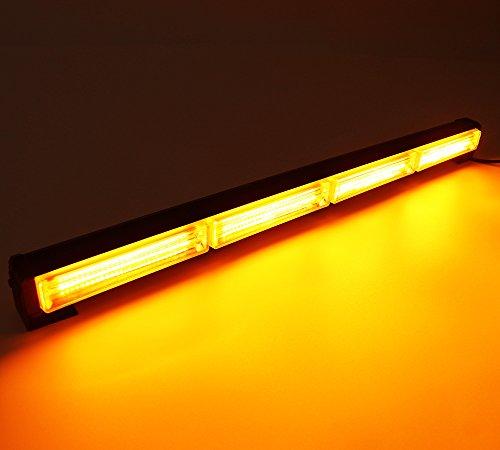 HEHEMM 72W Cob LED-Licht 58,4cm Notfall warnen Strobe Blinklicht Bar Hazard Dach Lampe