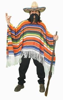 Forum Novelties Men s Adult Mexican Serape Costume Rainbow One Size