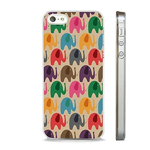 Carcasa para iPhone 12, diseño de elefantes, color transparente