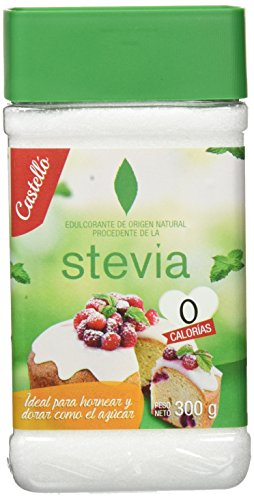 Castelló Since 1907 Édulcorant Stevia + Érythritol 1:1 - Pack 2 x 300 g - Total: 600 g