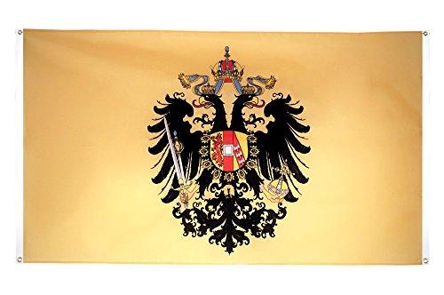 Flaggenfritze® Balkonflagge Österreich-Ungarn 1815-1915 - 90 x 150 cm