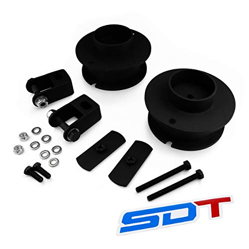 Fits 2014-2020 Dodge Ram 2500 2.5' Front Leveling Lift Kit 2WD 4WD -Street Dirt Track- Steel Front Spring Spacers with Shock Extension Brackets