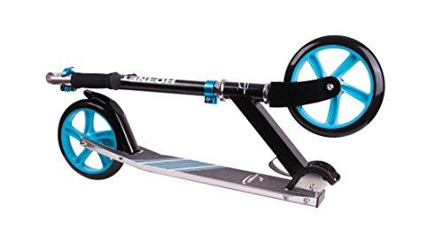 HUDORA Unisex– Erwachsene Hornet Kinderfahrräder, schwarz/hellblau, 200mm