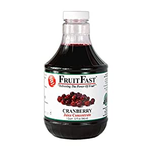 100% Pure Cranberry Juice Concentrate by FruitFast - Brownwood Acres | Unsweetened, Non-GMO, Gluten and BPA Free and… |