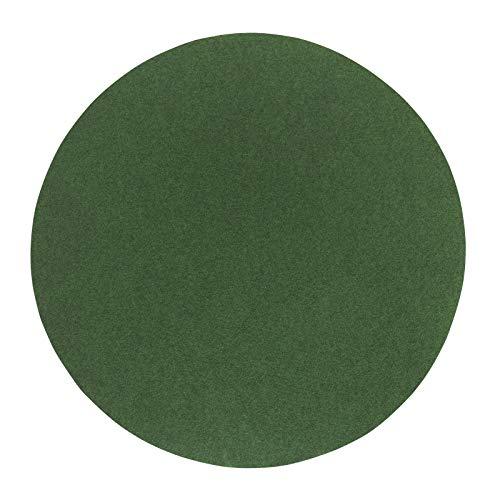 andiamo Kunstrasen Field, grün, strapazierfähiger Rasenteppich mit Drainage-Noppen, rund 95 cm