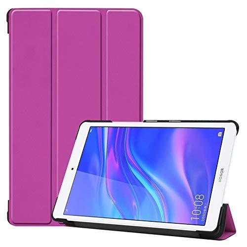 Aralinda Funda tipo libro ligera con función atril triple compatible con Huawei MediaPad M5 Lite 8' (versión 2019). Color morado