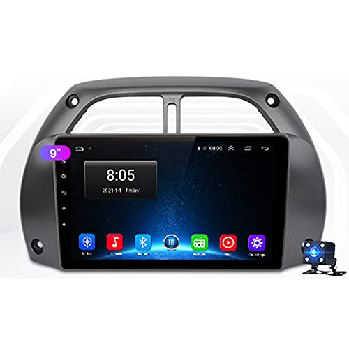 9'Android 10.0 2.5D Touch Screen Car Stereo Radio Navigazione Satellitare, per Toyota RAV4 RAV 4 2001-2005 Supporto Bluetooth WiFi GPS USB SD Multimedia Player Autoradio(Color:WiFi 4G+64G)
