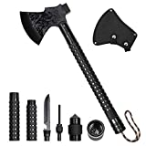 LIANTRAL Survival Camping Axe, Folding Tactical Axe Hatchet with Hammer, Nylon Sheath for Outdoor Adventures
