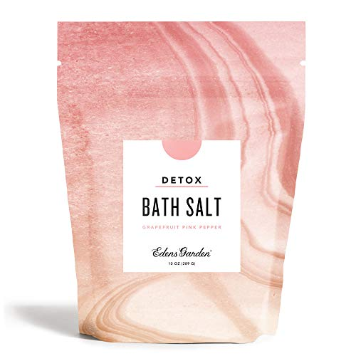 Edens Garden Grapefruit Pink Pepper Mineral Bath Salt (Made with Essential Oils, Epsom & Celtic Sea Salt - Great for Detox, Sleep, Immunity, Relaxation, Pain), 10 oz
