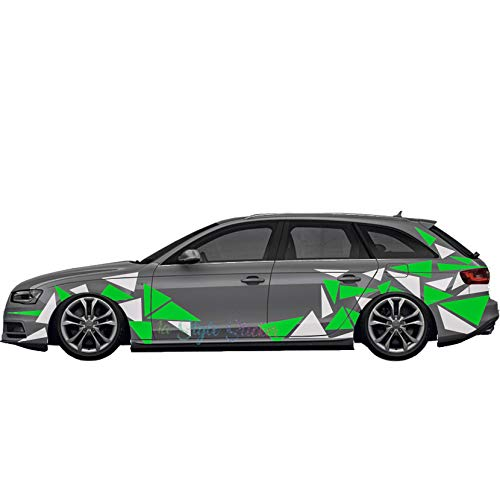 Auto Aufkleber Seitendekor Tuning Style Dreiecke Set Carwarp Set Autodekore Ecken