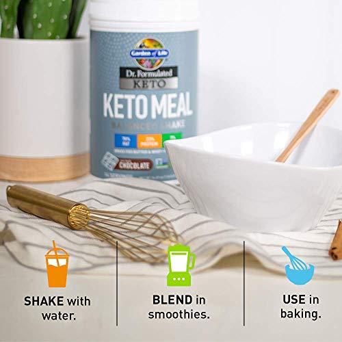 Garden of Life Dr. Formulated Keto Meal Balanced Shake, Chocolate Powder, 14 Servings