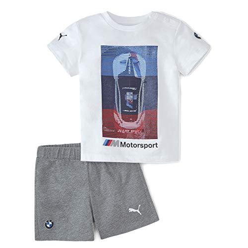 PUMA BMW MMS Toddler Set, Barboteuse bébé Unisexe, Pumawhite, 86