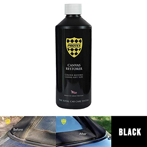 Protex World Convertible Soft Top Canvas Restorer (Black) 500 Milliliter - Color Restores Like New