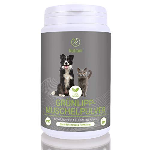 Nutrani Grünlippmuschelpulver für Hunde und Katzen | 150g – 100% natürliches und reines Pulver von der neuseeländischen Grünlippmuschel für Gelenk, Ausdauer und den Bewegungsapparat