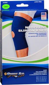Sport Aid Neoprene Slip-On Knee Support LG - 1 ea, Pack of 6