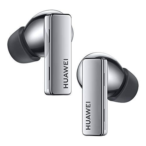 HUAWEI FreeBuds Pro - Auriculares inalámbricos Bluetooth con cancelación Inteligente de Ruido, Sistema de 3 micrófonos, Carga inalámbrica rápida, Plata, Small (55033466)