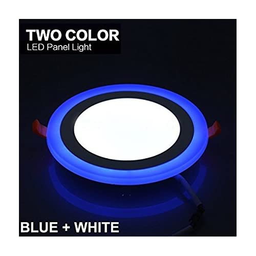 RIFLECTION 6W LED Round Panel Ceiling Down Indoor Light with 3D Effect(White and Blue)