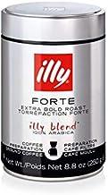 illy Coffee, Drip Ground, Forte, Extra Dark Roast, 100% Arabica Bean Bold Signature..