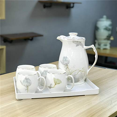 MSNLY European-Style Ceramic Household Large-Capacity Cold Water Kettle Cup Set Creative Simple High Temperature Cold Water Kettle