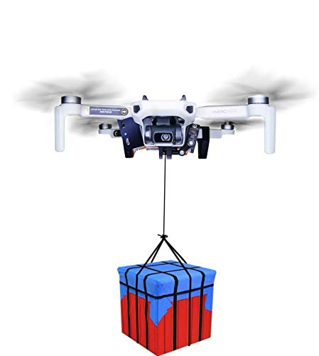 Mavic mini2/mini Drone Clip Payload Delivery Drop Transport Device Drone Release Fishing Bait Carrying Wedding Proposal Device Compatible with DJI Mavic mini drone(Load capacity 0.17 Ib).