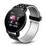 su-xuri Smartwatch - Reloj Smart Fitness Tracker, reloj deportivo inteligente Pulsera inteligente de frecuencia cardíaca con pantalla táctil de alta definición IP67 Reloj deportivo resistente newcomer