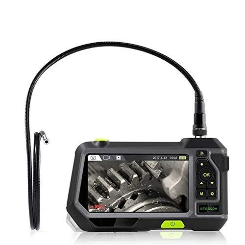 Endoscopio industrial 7.6MM boroscopio cámara de inspección 4 luces LED con 5 pulgadas HD 1080 p pantalla 32 GB tarjeta 3500 mAh