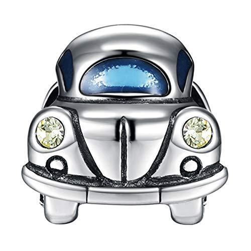 GW 925 Sterling Silber Charms Auto passt für Pandora Armband Armkette für Familie/Freund (Mehrfarbig)