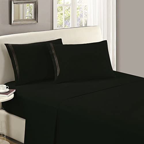 Mellanni Luxury Flat Sheet Brushed Microfiber 1800 Bedding Top Sheet Wrinkle Fade Stain Resistant product image