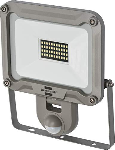 Brennenstuhl LED Außenstrahler JARO 3000P (für außen mit Bewegungsmelder, zur Wandmontage, LED-Fluter 30W aus Aluminium, IP44) silber