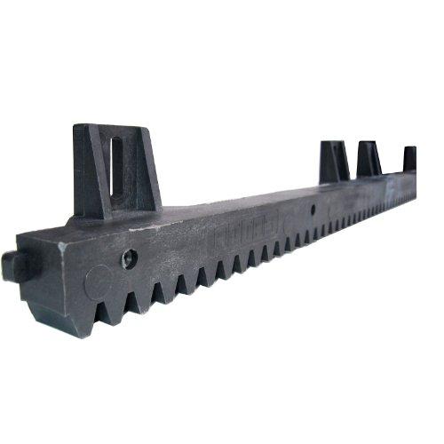 Zahnstange Kunststoff 20 x 30 mm Modul 4 mit Befestigungswinkel in Richtung entgegengesetzt der Verzahnung