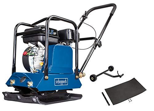 scheppach HP1200S Benzin-Rüttelplatte - 6,5PS | 15kN | inkl. Gummimatte und Fahrvorrichtung