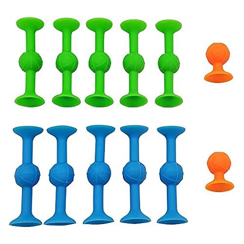 #N/A/a Ventosa Juguetes Ventosa Juguetes de Silicona Dardos Objetivo Ventosa Juegos de Dardos, Juegos al Aire Libre competitivos Bloques de construcción de - 12 Piezas Conjunto S
