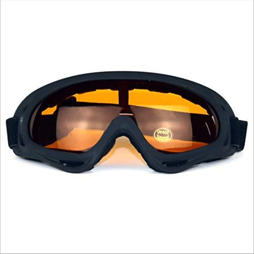 Occhiali da Sci Maschera antiappannamento Uomo Donna Guanti Sport all'Aria Aperta Moto Ciclismo Sunglasse Arancione