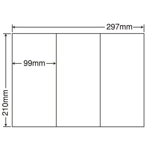 東洋印刷 シートカットラベル A4版 3面付(1ケース500シート) C3GF