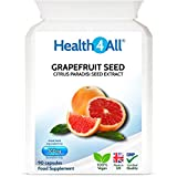 Grapefruit Seed Extract (GSE) 90 Capsules (V) for Candida and UTIs. Vegan. Made by Health4All
