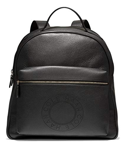Cole Haan Leather Backpack, BLACK