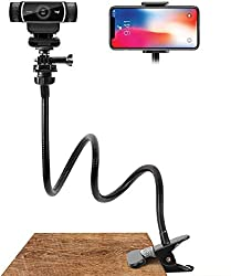 Amada 25 inch Flexible Webcam Stand and Phone Holder