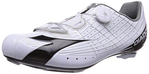 Diadora SPEED VORTEX - Zapatillas de ciclismo de material sintético para mujer, Bianco (Weiß (weiß/schwarz 3510)), 44