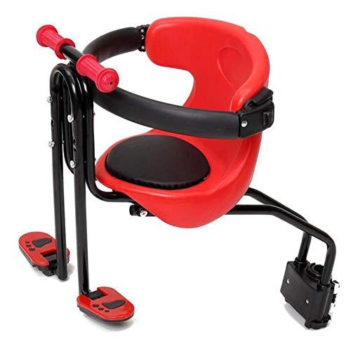 Seggiolino bici per bambini montato frontalmente,Seggiolino bici per bambini universale per bambini,Seggiolino bici per bambini anteriore Seggiolino di sicurezza per bici Sedile anteriore per marsupio
