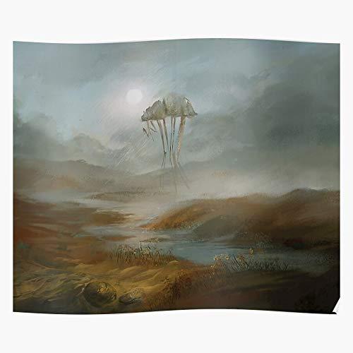 Morrowind Yellow Rain Game Dust Water Elder Landscape Scrolls Home Decor Wandkunst drucken Poster !