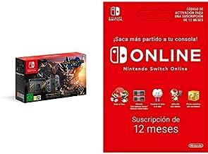 Nintendo Switch edición Monster Hunter Rise (Edición Limitada) + Nintendo Switch Online - 12 Meses (Código de descarga)