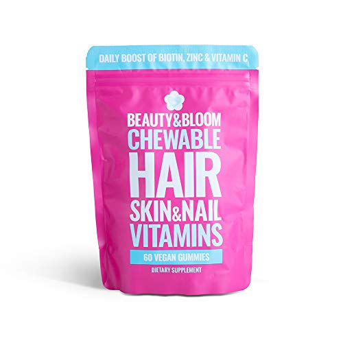 Beauty & Bloom - Vegan Hair, Skin & Nail Vitamins - Biotin - Mixed Berry Flavor - 60 Gummies