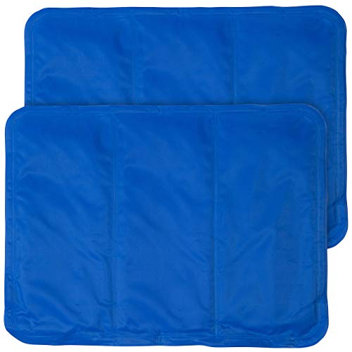 Newgen Medicals Kühlkissen Kopfkissen: 2er-Set kühlende Kissenauflagen, 30 x 40 cm, blau (Kühlkissen für Bürostuhl)